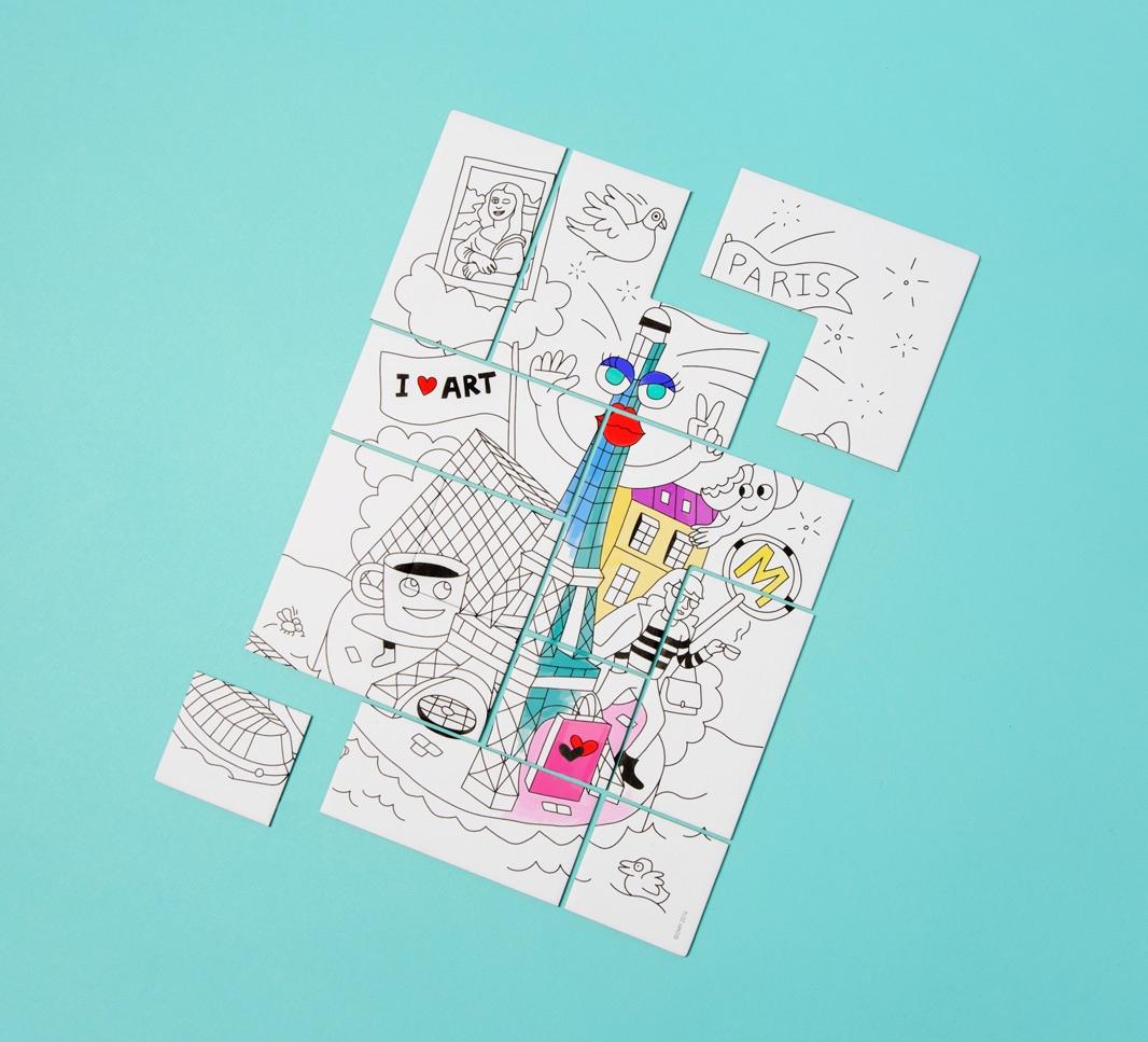 Puzzle à colorier OMY